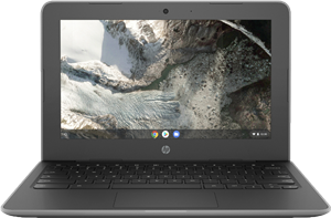 Photo of the HP Chromebook G7 EE students will receive