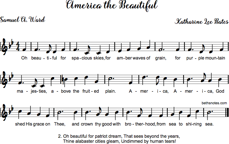 America the Beautiful song