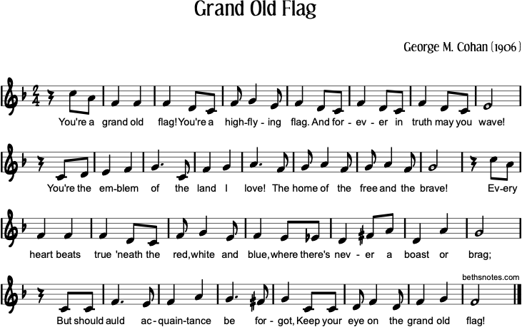 Grand Old Flag music