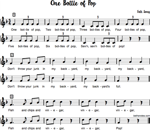 one bottle of pop song