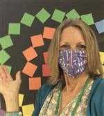 Mrs. Caffrey with her Mask