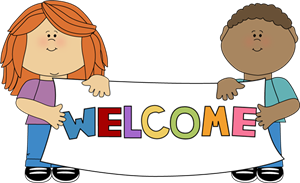 kids holding welcome sign