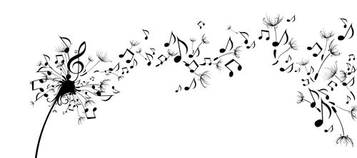 Music Notes Splash