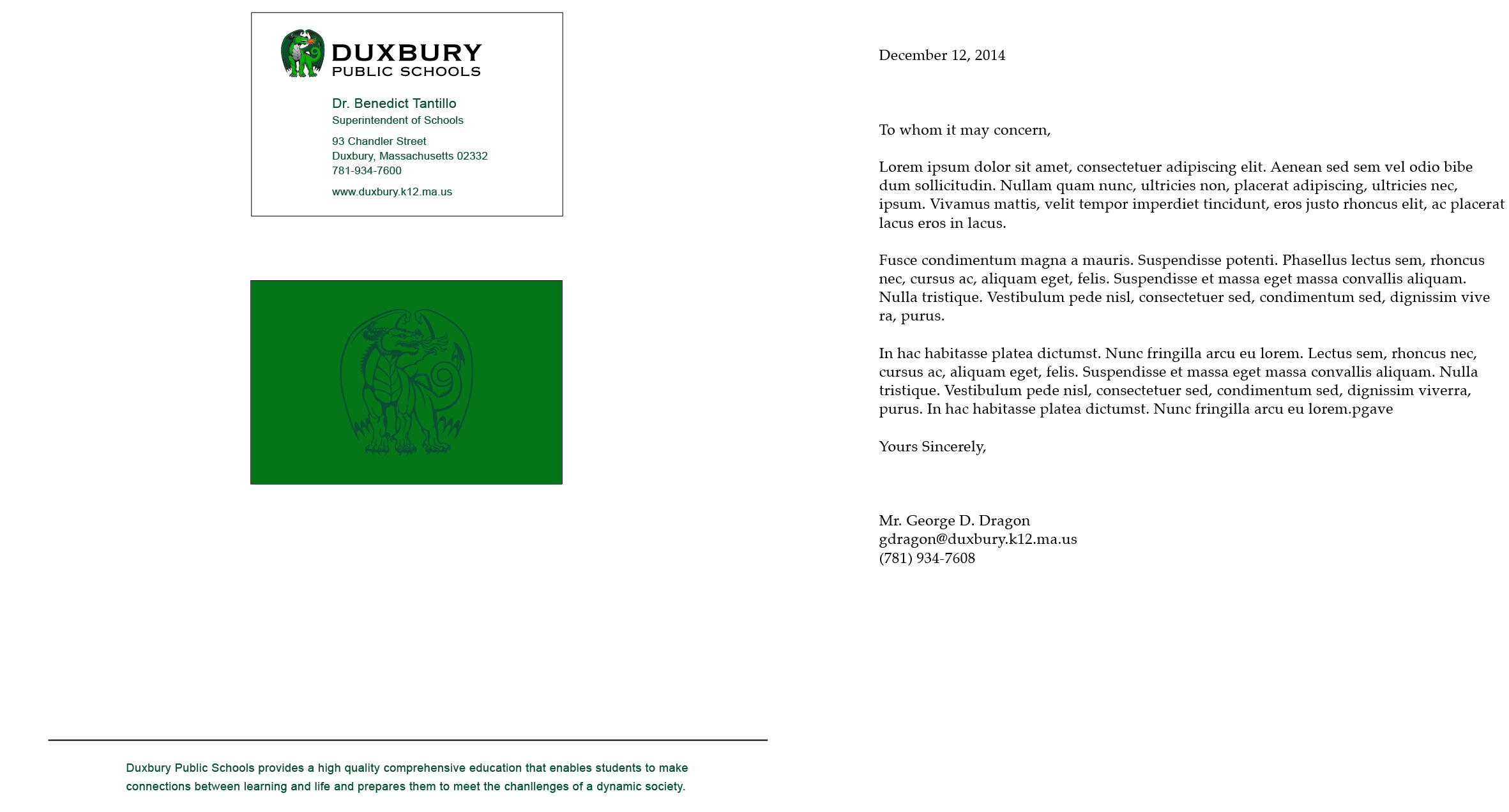 Resources and Links / Duxbury Public Schools Style Guide